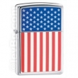 Запалка Zippo American Flag High Polish Chrome
