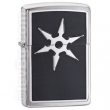 Запалка Zippo 6 Point Throwing Star Emblem Brushed Chrome