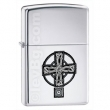 Запалка Zippo Celtic Cross High Polish Chrome
