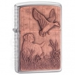 Запалка Zippo Copper Bird Dog Emblem Brushed Chrome