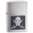 Запалка Zippo Piercing Pirate Eye Emblem Brushed Chrome