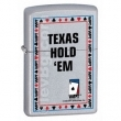 Запалка Zippo Texas Hold'em Satin Chrome