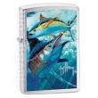 Запалка Zippo Guy Harvey Point Black Brushed Chome
