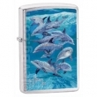 Запалка Zippo Guy Harvey Bottle Nose Dolphin Brushed Chrome