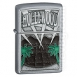 Запалка Zippo Hollywood Palm Trees Emblem Satin Chrome