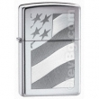 Запалка Zippo Old Glory High Polish Chrome