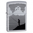 Запалка Zippo Night Fishing Satin Chrome