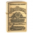 Запалка Zippo Jim Beam Brass Emblem High Polish Brass