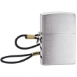 Запалка Zippo Brushed Chrome with Loop & Lanyard