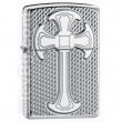 Запалка Zippo Mesh Cross Armor High Polish Chrome